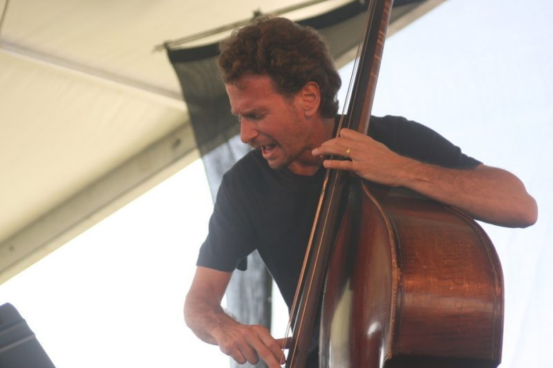 Larry Grenadier of Fly at the CareFusion Newport Jazz Festival 2010