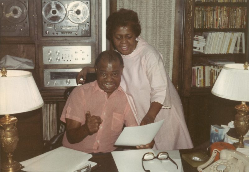 Louis and Lucille Armstrong at home