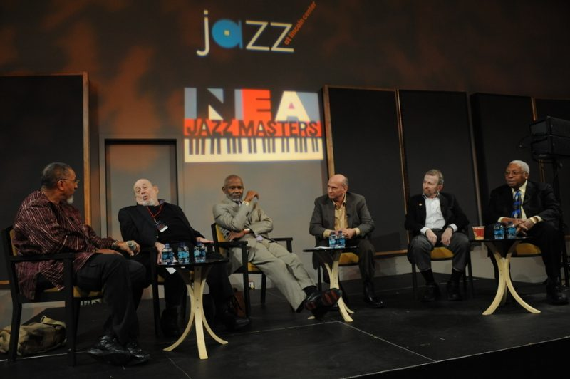 2011 NEA Jazz Masters panel: A.B Spellman; Orrin Keepnews; Hubert Laws; David Liebman; Johnny Mandel; Ellis Marsalis