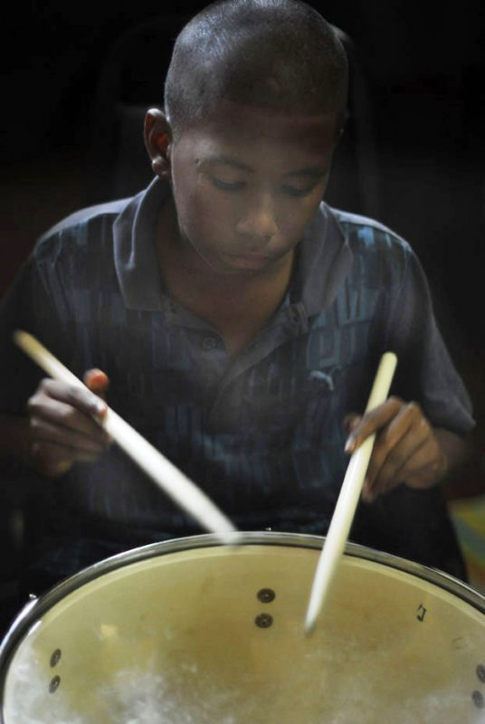 Young musician at 2011 Panama Jazz Festival