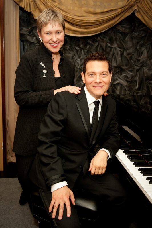 """Michael Feinstein's American Songbook"" producer and director Amber Edwards, with Feinstein"