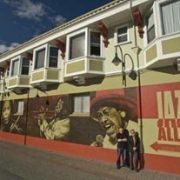 Jazz Alley mural by Kuumbwa Jazz Center in Santa Cruz, California image 0