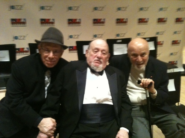 Todd Barkan, Orrin Keepnews, and George Avakian at National Endowment of the Arts Jazz Masters 2011 Induction Ceremonies  at Jazz at Lincoln Center