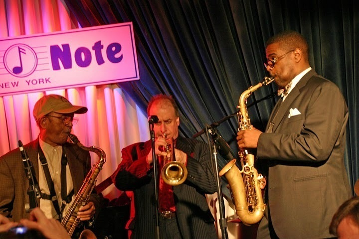 Jimmy Heath, Greg Gisbert and Antonio Hart performing at the Concert to Benefit the James Moody Scholarship for Newark Youth