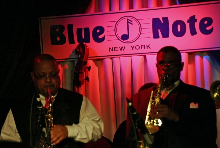 Justin Robinson and Antonio Hart performing at the Concert to Benefit the James Moody Scholarship for Newark Youth
