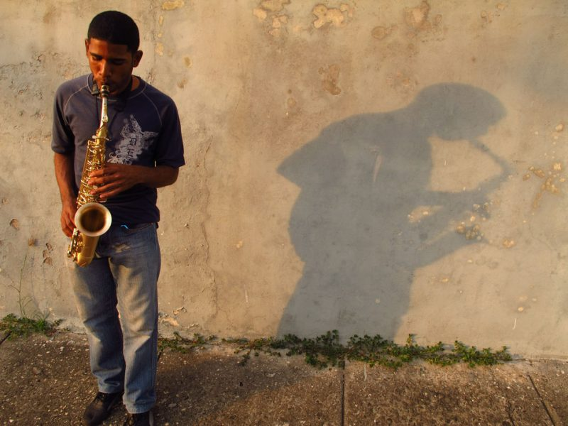 Samuel Batista with P. Mauriat saxophone