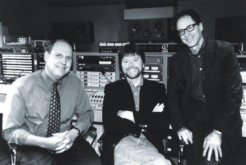 Jeff Jones, Senior Vice President, Sony Music/Legacy Recordings; Ken Burns and Ron Goldstein, President, The Verve Music Group