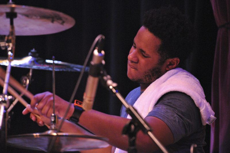 Ronald Bruner, Jr. performing with Stanley Clarke at Yoshi's in Oakland on April 1, 2011