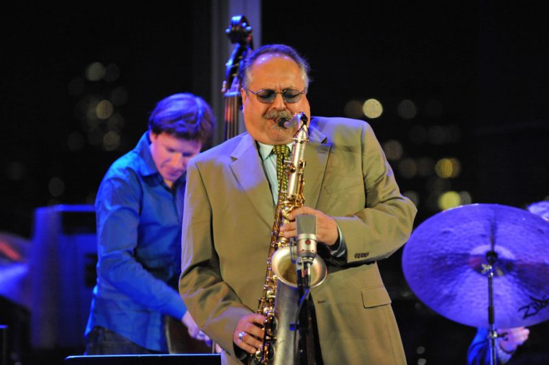 Joe Lovano (with Matt Penman) takes the stage at the 3rd annual Playing Our Parts benefit concert in memory of bassist Dennis Irwin