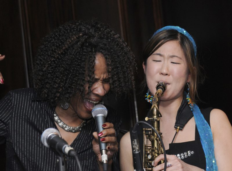 Wannetta Jackson and Grace Kelly performing at Eric in Two Evenings event in Boston