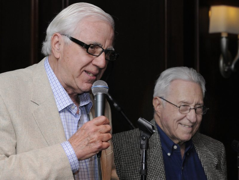 Ron Della Chiesa and Fred Taylor at Eric in Two Evenings event in Boston