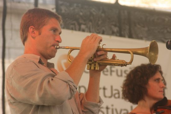 Shane Endsley performing with Ben Allison at CareFusion Newport Jazz Festival 2010 image 0