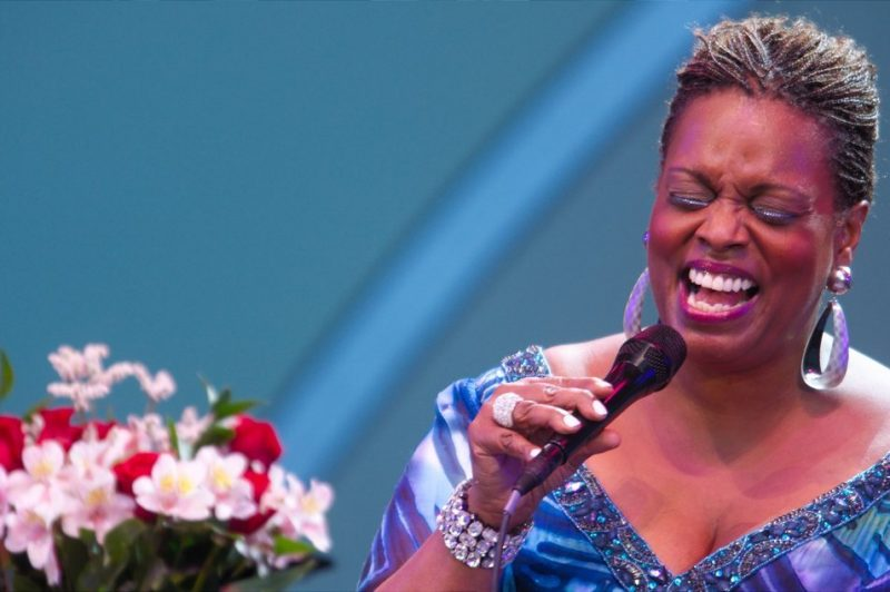 Dianne Reeves performing at the 2011 Playboy Jazz Festival