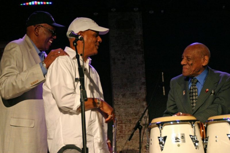 Randy Weston, TK Blue and Candido at the JJA awards ceremony on June 11, 20011 at City Winery in NYC