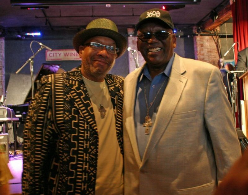 Willard Jenkins and Randy Weston at the JJA awards ceremony on June 11, 20011 at City Winery in NYC