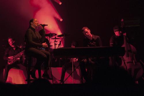 Sade performing at the Wells Fargo Center in Philadelphia on June 19, 2011