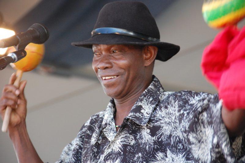 "David ""Ti Coca"" Mettelus from Haiti at the 2011 New Orleans Jazz & Heritage Festival"