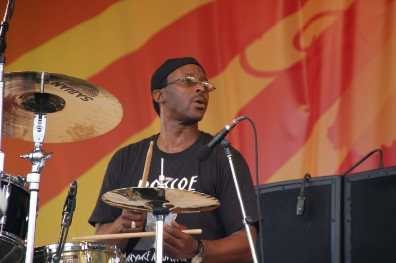 Herlin Riley, performing with Dr. John, at the 2011 New Orleans Jazz & Heritage Festival
