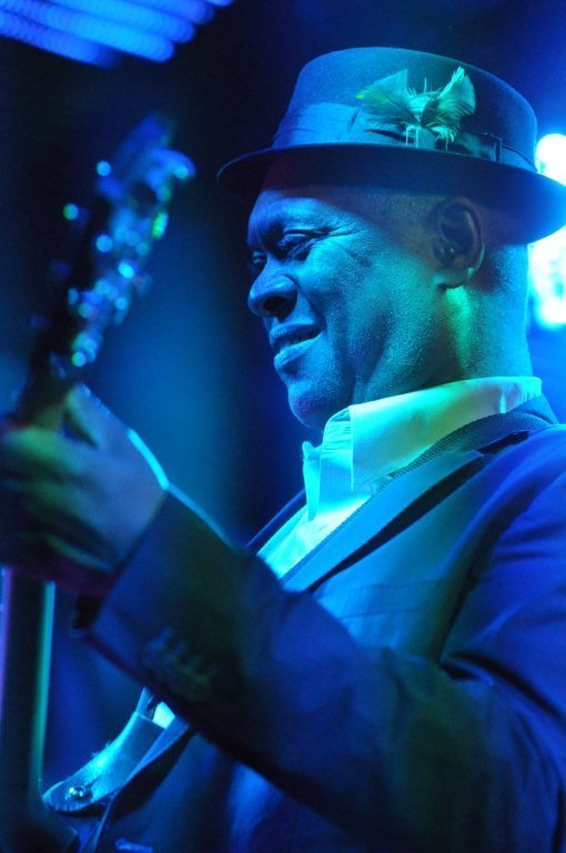 Booker T in performance at BluesFest held at Under the Bridge in London