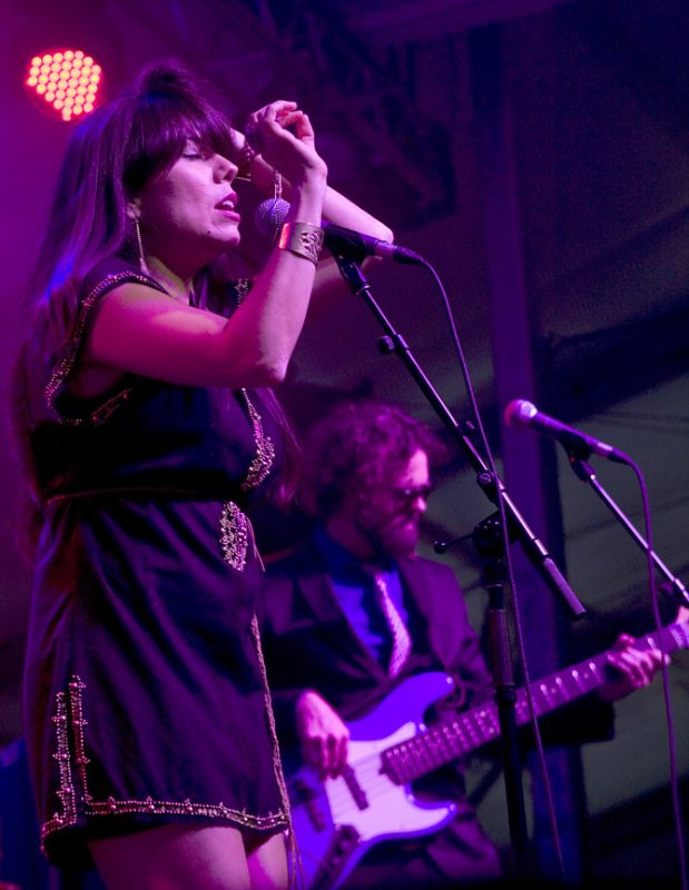 Singer Sho Shona Kish with Digging Roots in performance at 2011 TD Toronto Jazz Festival