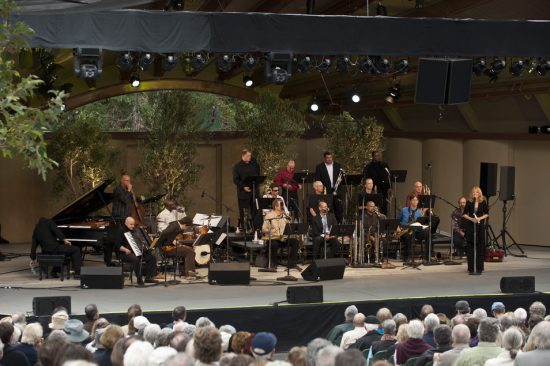 Maria Schneider and her orchestra at the 65th Ojai Music Festival on June 12, 2011 in the new Libbey Bowl in Ojai, CA image 0