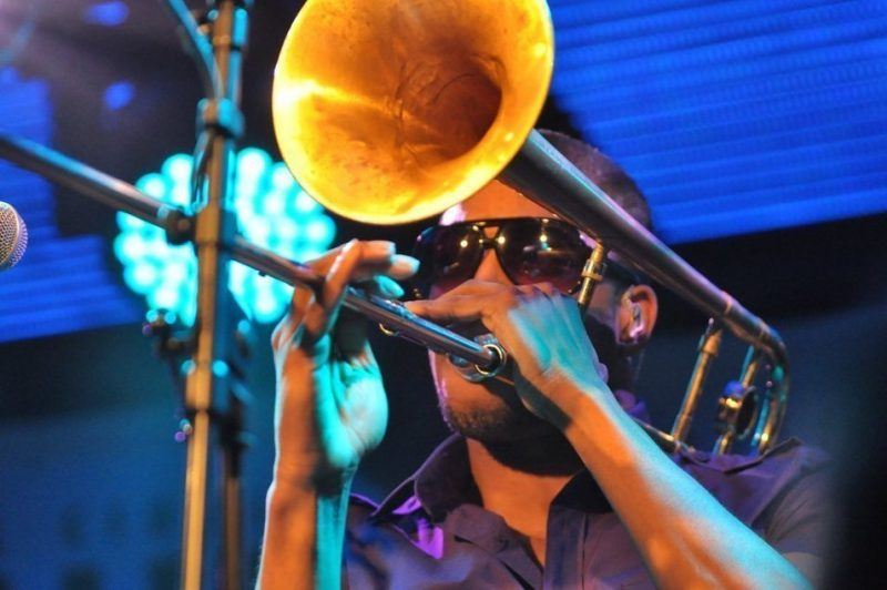 Trombone Shorty in performance at BluesFest held at Under the Bridge in London