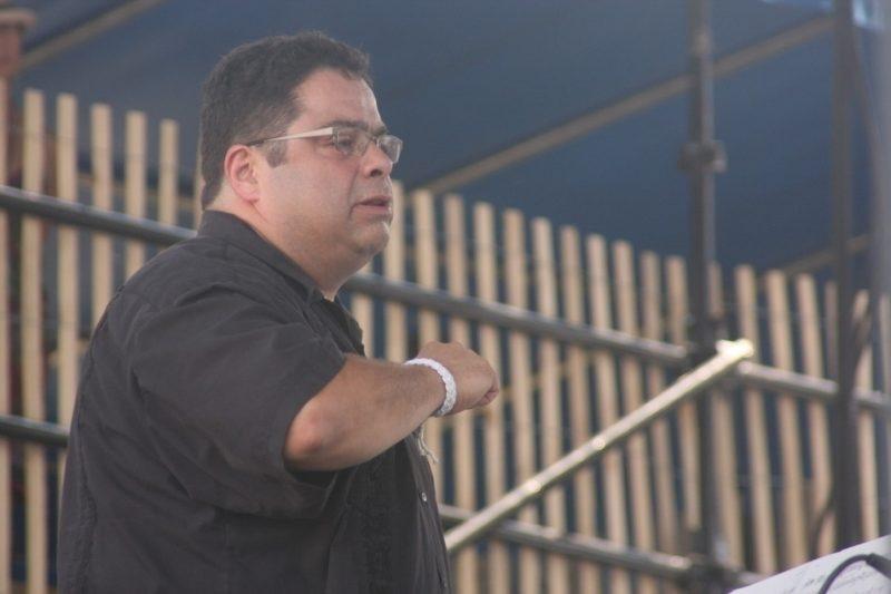 Arturo O'Farrill leading his Latin Jazz Orchestra at CareFusion Newport Jazz Festival 2010