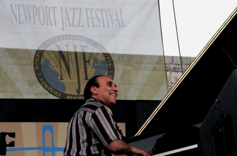 Michel Camilo performing during the 2011 Newport Jazz Festival
