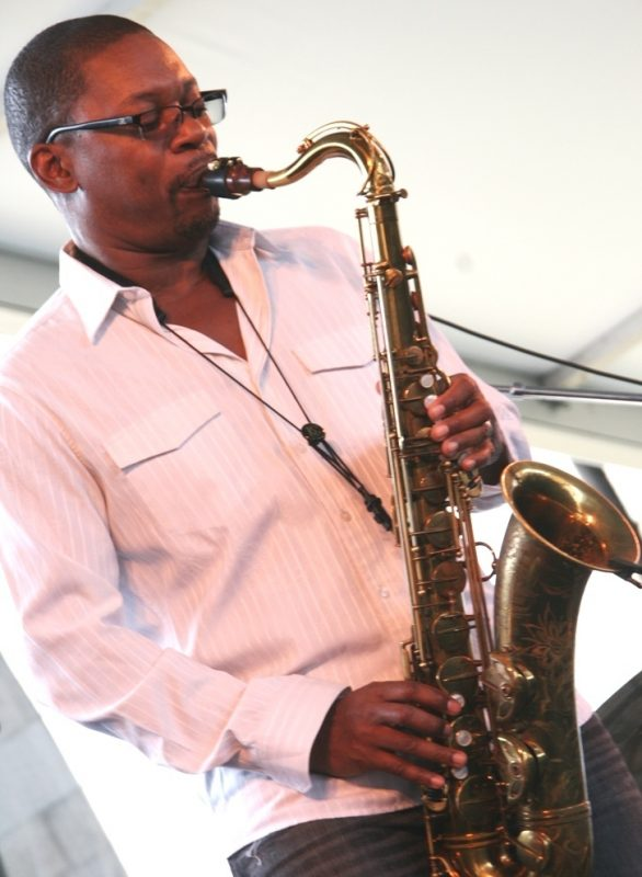 Ravi Coltrane performing at the 2011 Newport Jazz Festival