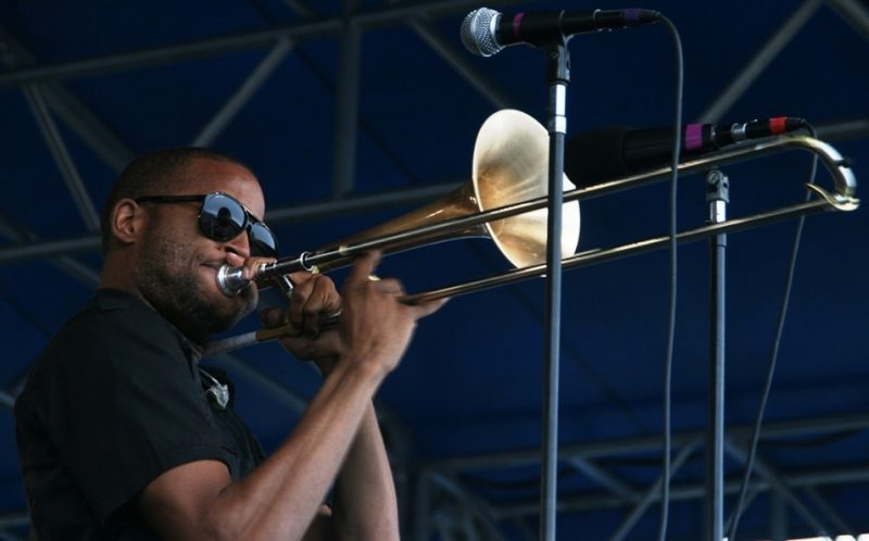 Trombone Shorty at the 2011 Newport Jazz Festival