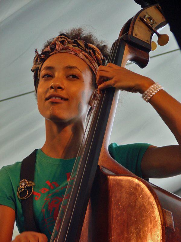 Esperanza Spalding at the 2011 Newport Jazz Festival