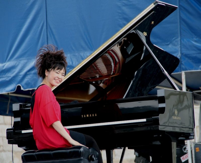 Hiromi performing solo during the 2011 Newport Jazz Festival