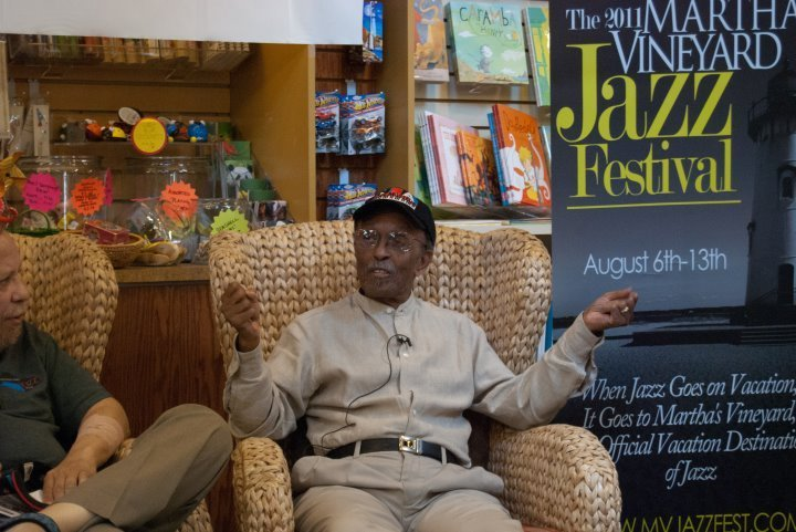 Jimmy Heath at book signing during the 2011 Martha's Vineyard Jazz Festival