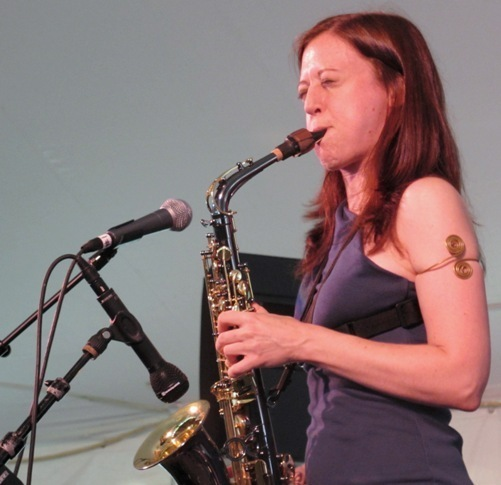 Saxophonist Sarah Manning in the 2011 Tanglewood Jazz Festival's Jazz Cafe