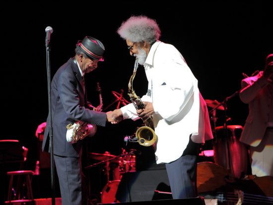 Ornette Coleman helps Sonny Rollins celebrate his 80th at NYC's Beacon Theatre; Sept. 10, 2010 image 0