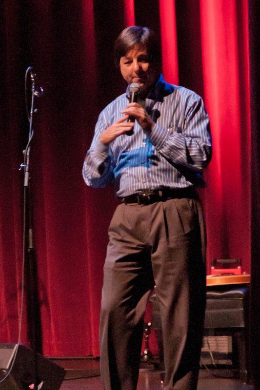 Emcee, Paul Wilborn, Director of the Palladium Theater