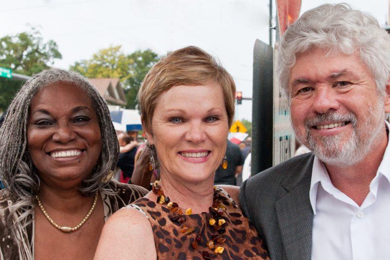 Rose Bilal, Denise Moore and Bob Seymour