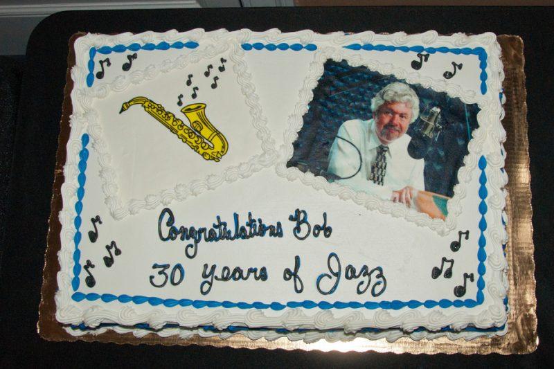 Bob Seymour 30 years of jazz cake.