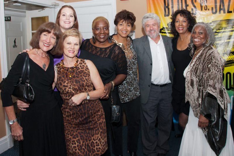 Bob  & Miriam Seymour with some of Tampa Bay's jazz vocalists: Denise Moore, Whitney James, Belinda Womack, Kat Hafner and Rose Bilal