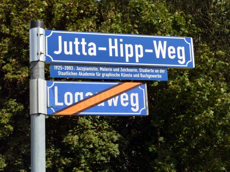 Jutta-Hipp-Weg in Leipzig, Germany