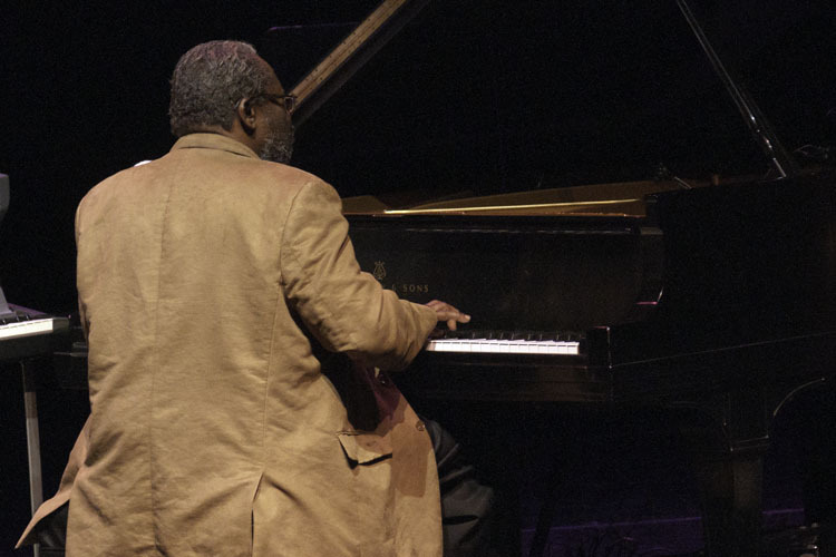 Larry Willis in performance with Jerry Gonzalez & Fort Apache Band at Zellerbach Theatre in Philadelphia, Pa.