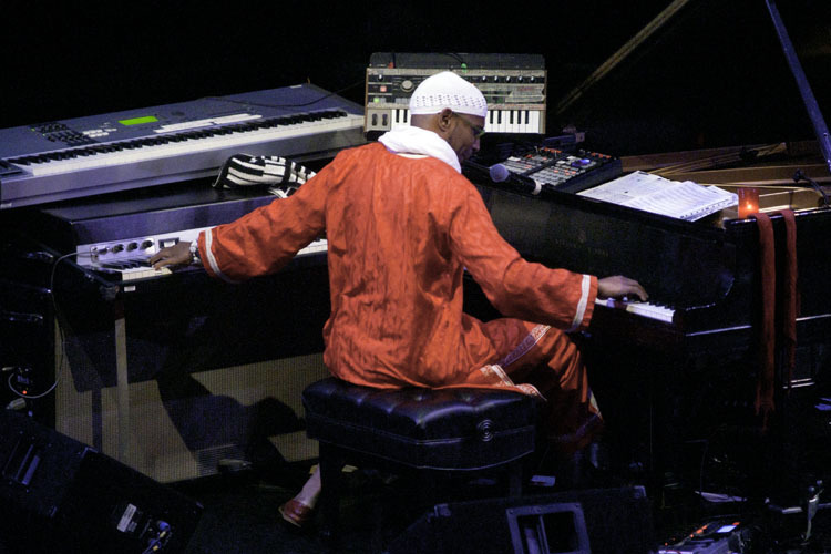 Omar Sosa in performance at Zellerbach Theatre in Philadelphia, Pa.