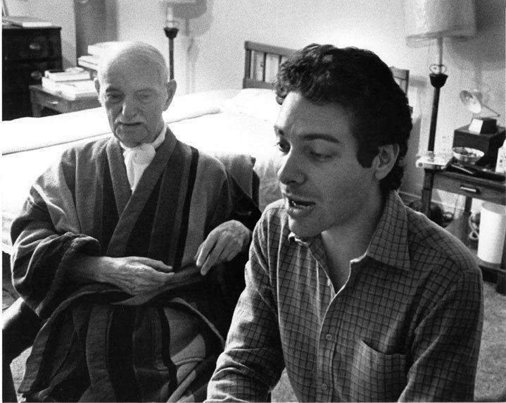 Michael Feinstein (r.) with Ira Gershwin in 1982, photo courtesy of Michael Feinstein