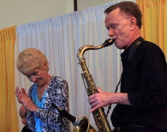 Singer Chris Brown and tenor saxophonist Mike Parmalee at the 2012 Punta Gorda Wine & Jazz Festival's jazz brunch