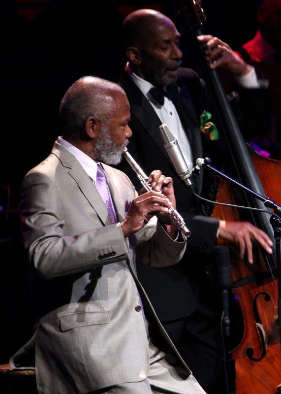 Hubert Laws and Ron Carter at the 2012 NEA Jazz Masters awards