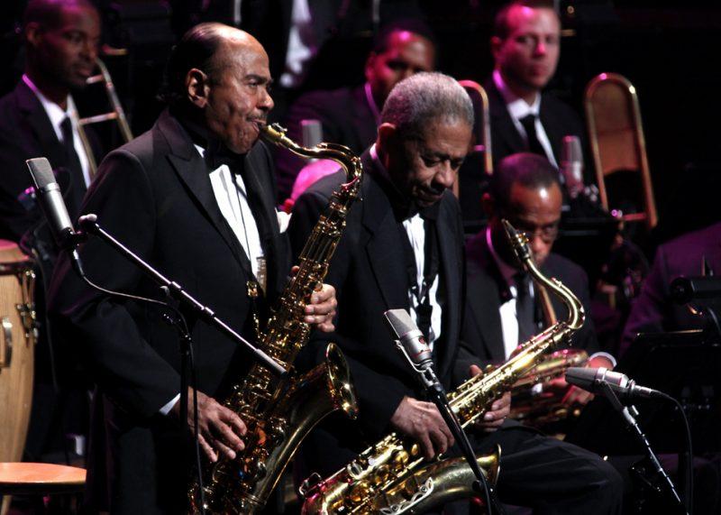Frank Wess and Benny Golson at the 2012 NEA Jazz Masters awards