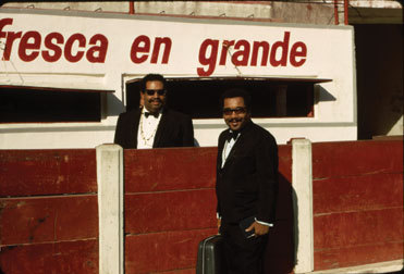Cannonball and Nat Adderley, on tour in Mexico