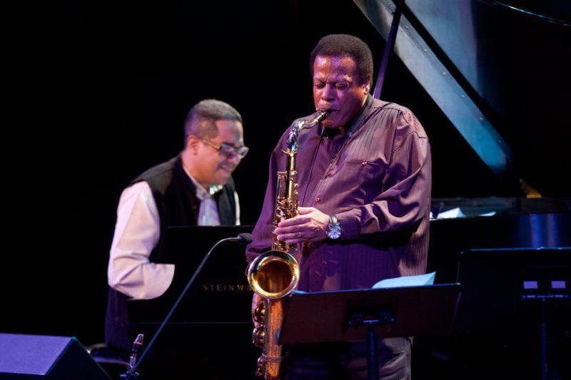 Danilo Pérez (left) and Wayne Shorter at Jazz at Lincoln Center, April 2012