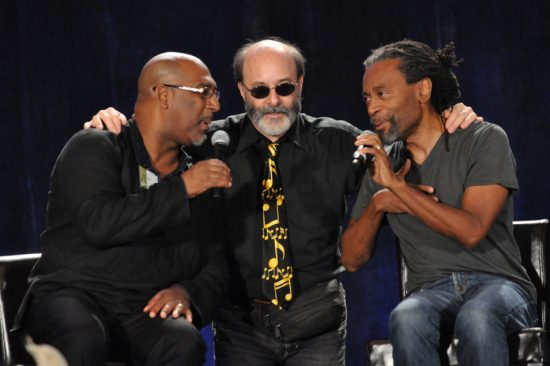 Vocalists Joey Blake, Bob Stoloff and Bobby McFerrin sharing the stage image 0