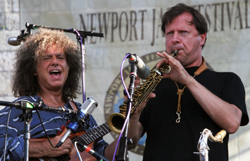 Guitarist Pat Metheny's Unity Band featuring saxophonist Chris Potter closed out Saturday's performances at the 2012 Newport Jazz Festival
